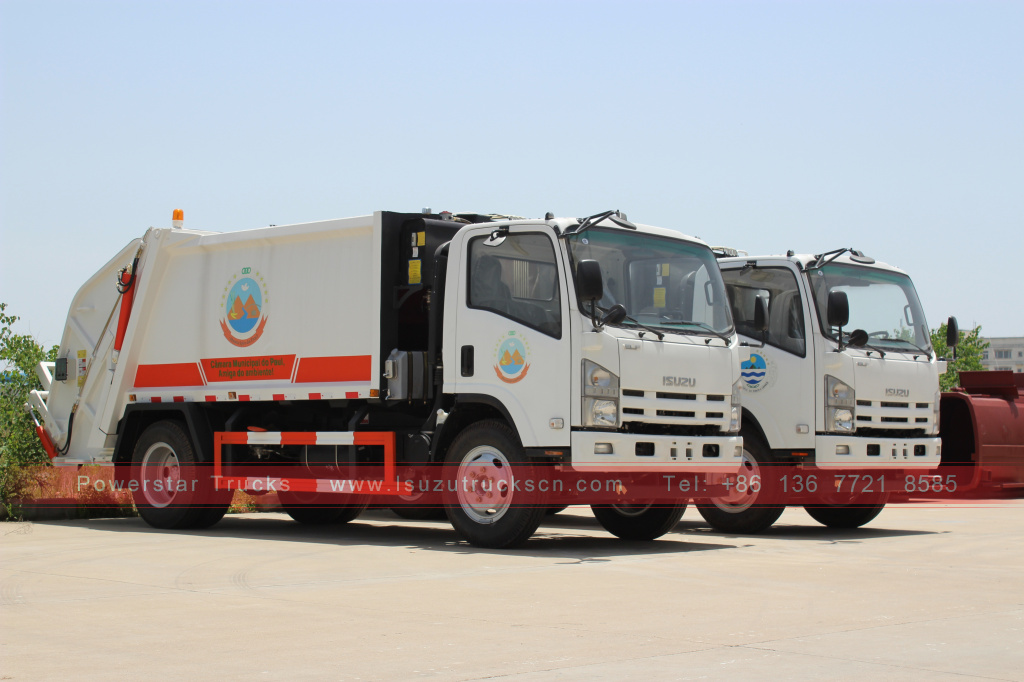 Myanmar Isuzu Rear-end loading garbage compactor for sale