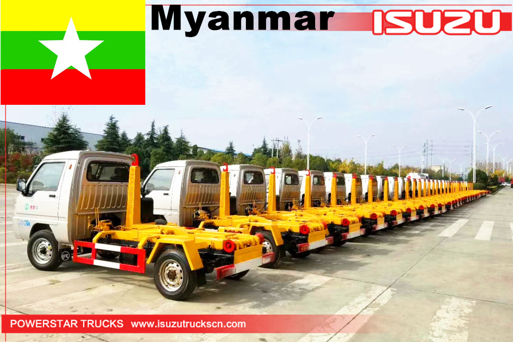 Myanmar - 22 units of FOTON hook lift truck