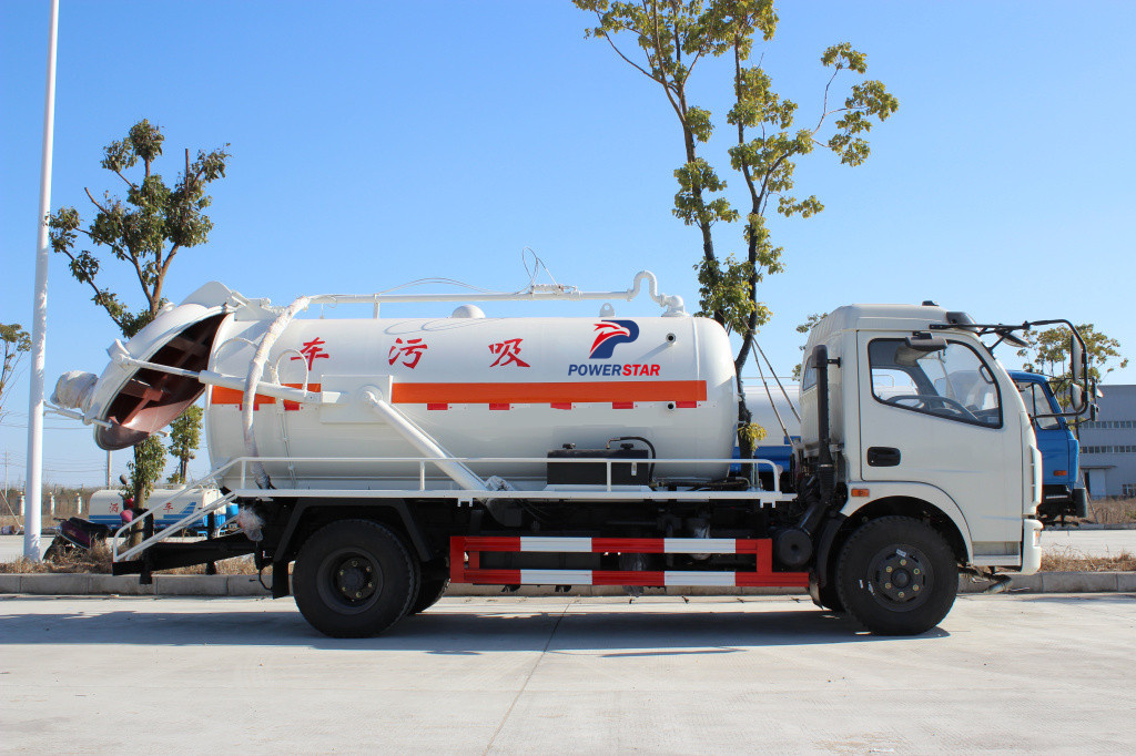 Best waste water suction truck Isuzu septic tanker from Powerstar trucks