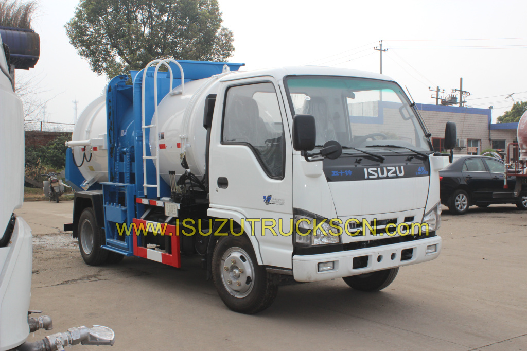 food Waste Collection Truck Isuzu garbage trucks