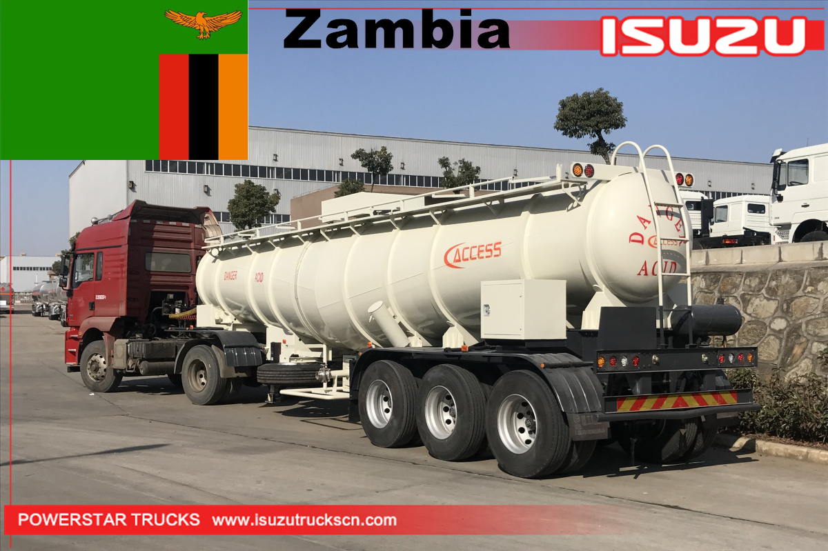 Zambia - 20 Units of Sulfuric Acid Tanker Trailer