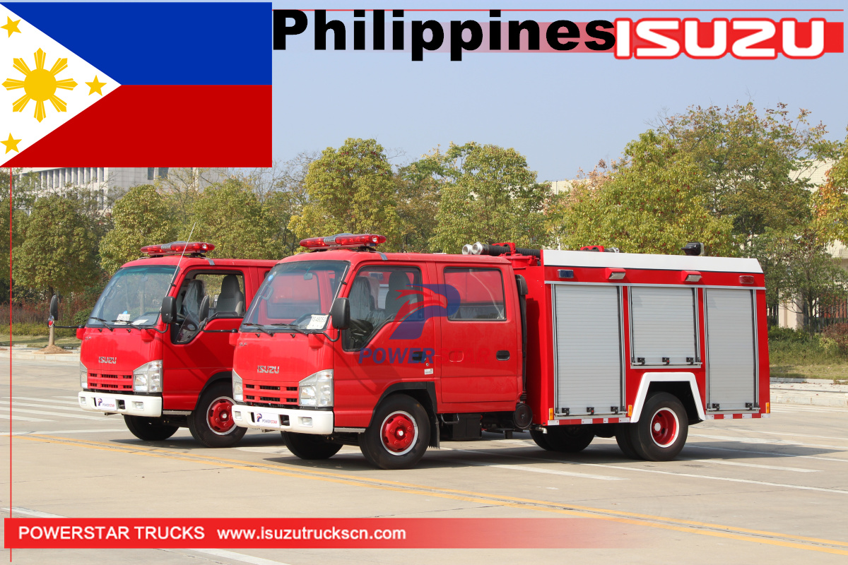 Philippines - 2 Units ISUZU Water Foam Fire Engine Vehile