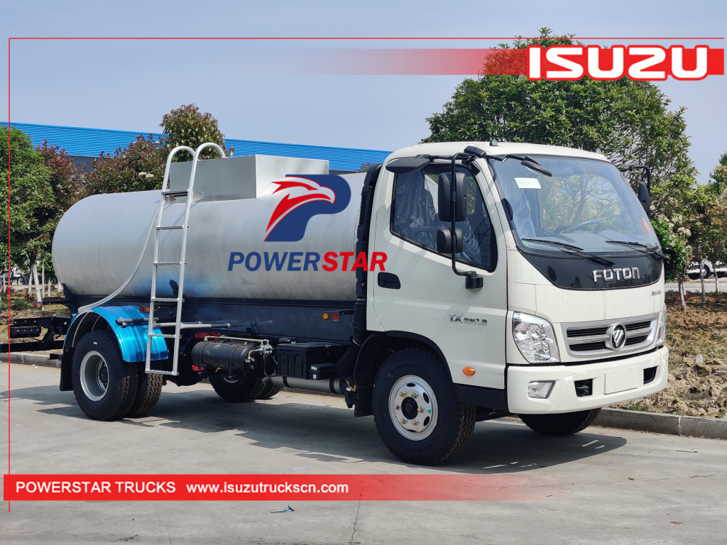 FOTON stainless steel Potable Water Tanker trucks