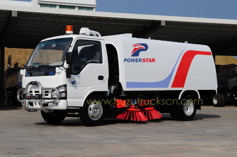 Africa market Isuzu brand street cleaner sweeper and cleaning truck