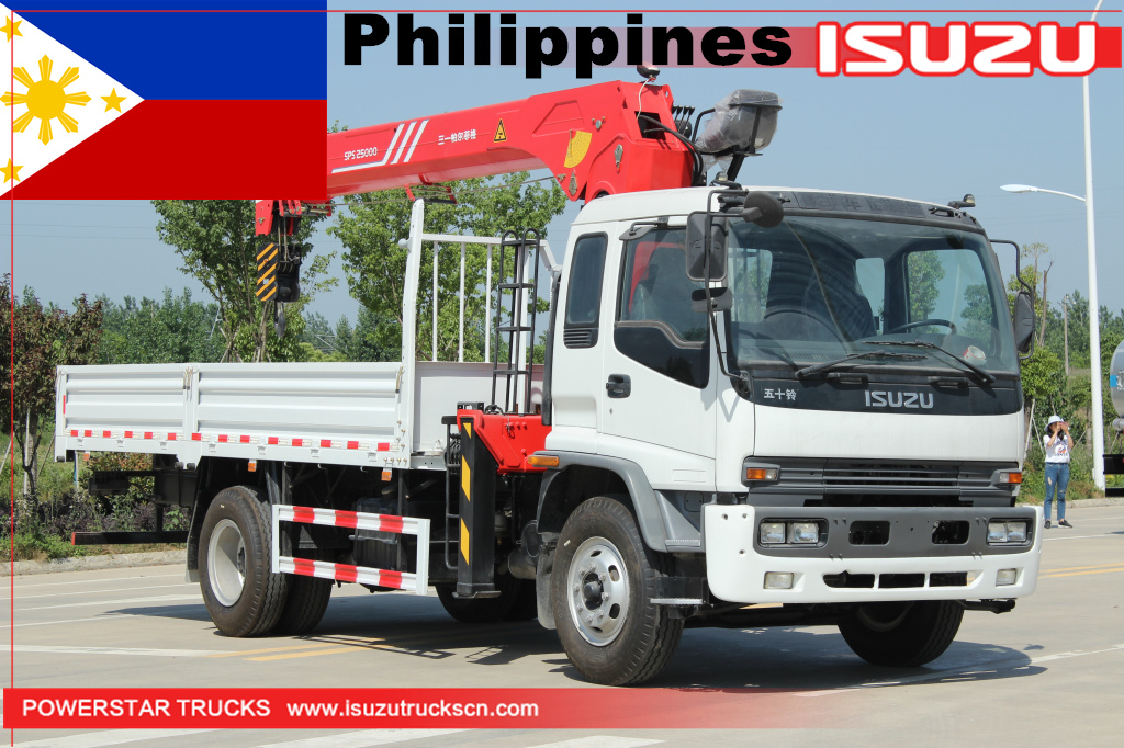 Philippines - ISUZU Truck with Palfinger crane