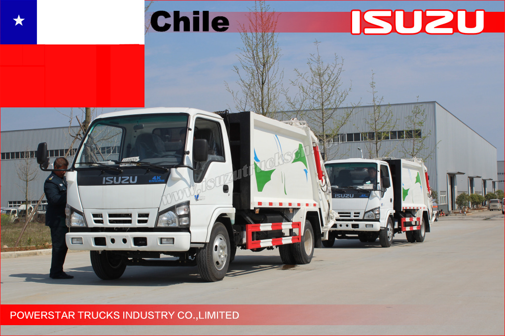 10units ISUZU Garbage Compactor Truck for Chile