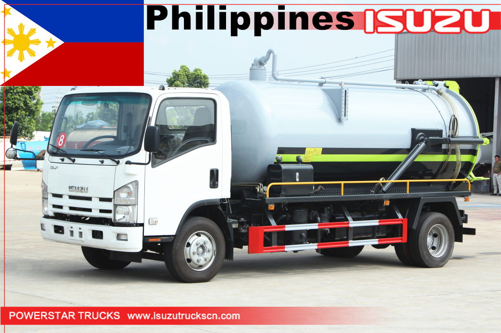 Philippines- 3 units ISUZU NPR Sewage Suction Vacuum Truck