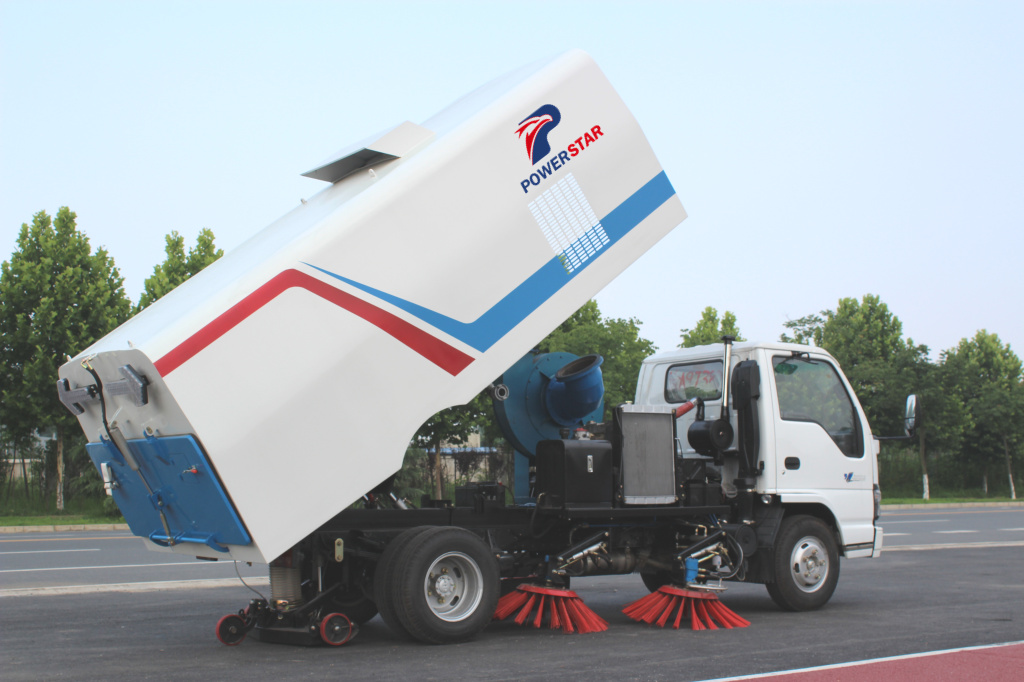How to control the Road Street Cleaning Sweeper Truck?