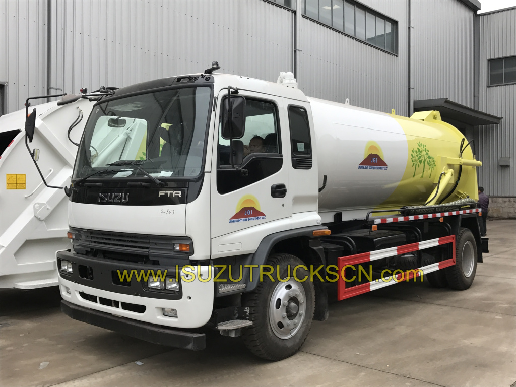 12,000L Sewage Suction Truck Isuzu Vacuum Trucks