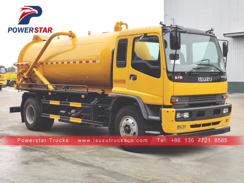 NEW ISUZU FTR Vacuum Sewage Suction Truck 14,000L