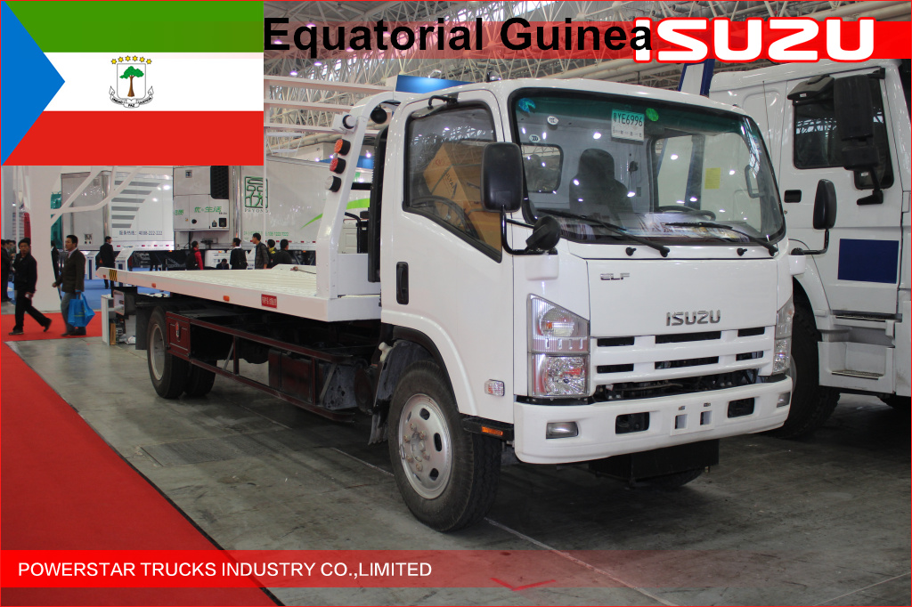 4units ISUZU 5tons Flatbed Recovery Vehicle for Equatorial Guinea