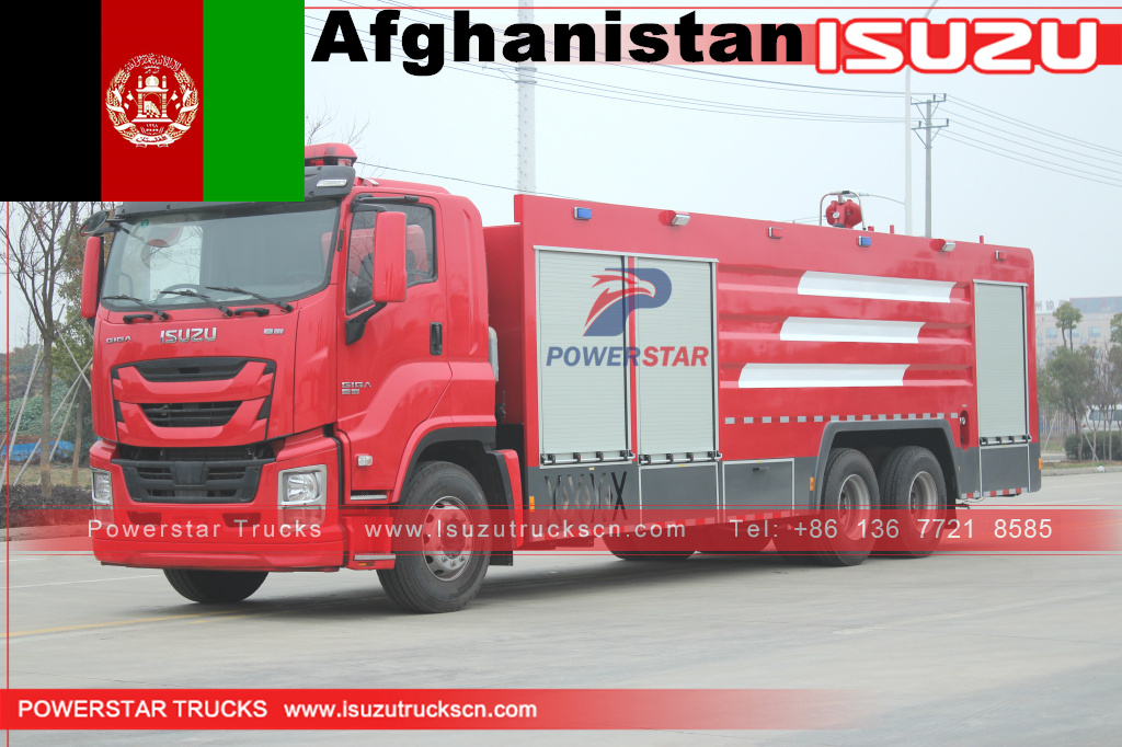 Afghanistan- ISUZU GIGA Fire Engine Trucks