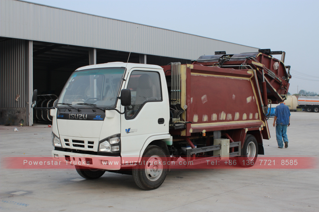 ISUZU NKR waste compactor vehicle for sale