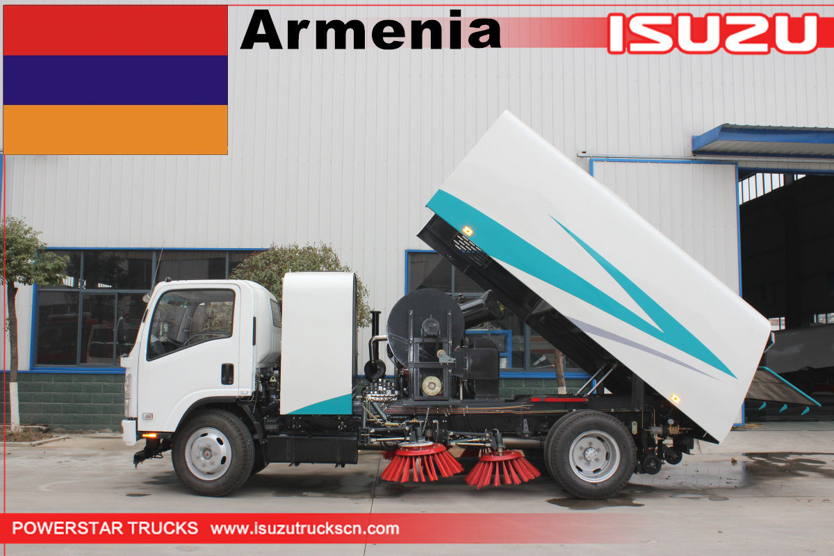 Armenia - 1 Unit Broom Road Sweeper Isuzu