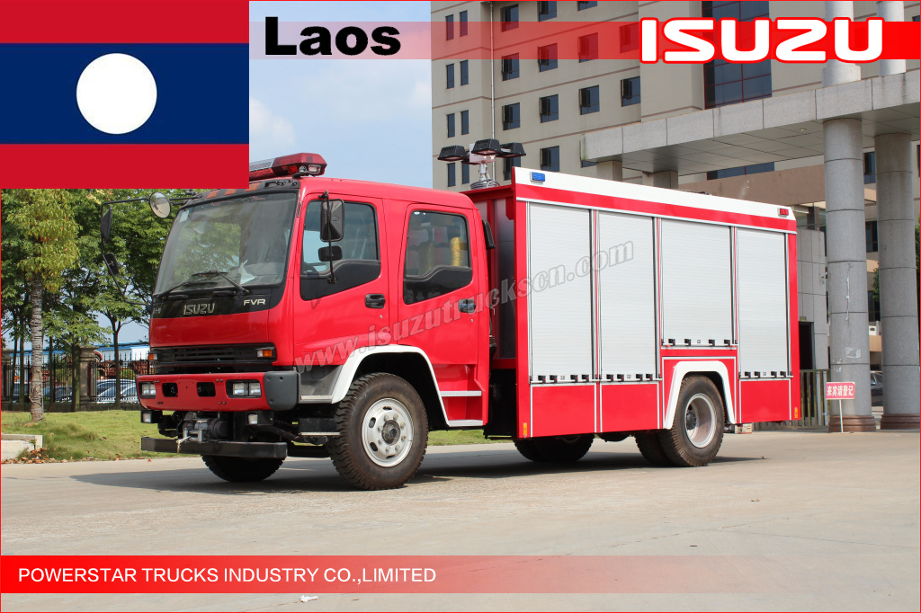 Rescue Fire Truck for LAOS Tour spots