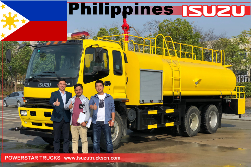 Philippines - 1 unit ISUZU Water Fire Tanker truck