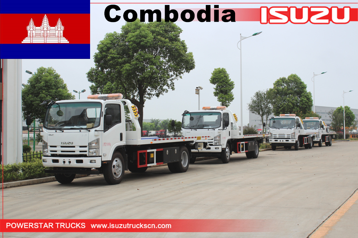 Combodia - 4 Units of Towing Wrecker Truck Isuzu