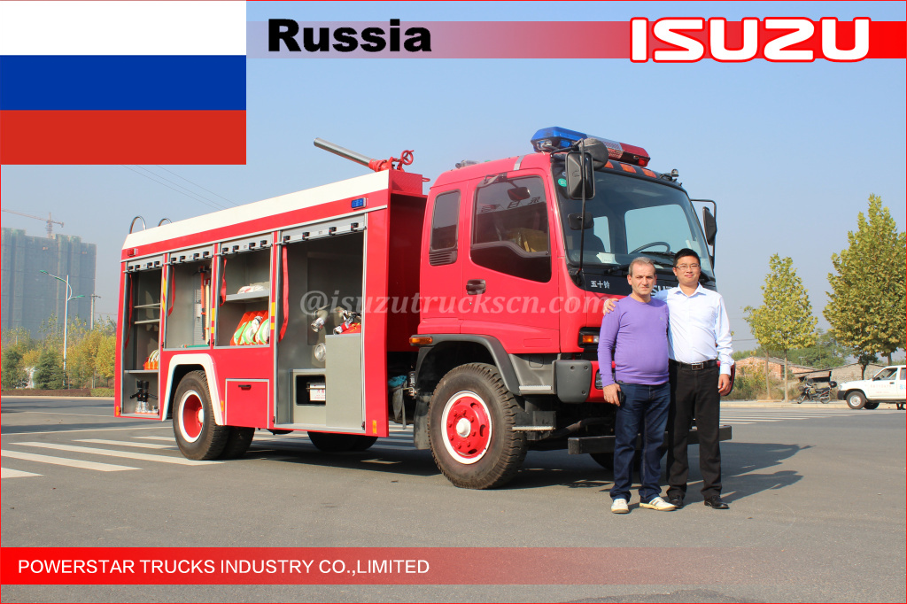 Foam Fire Engine for Russian