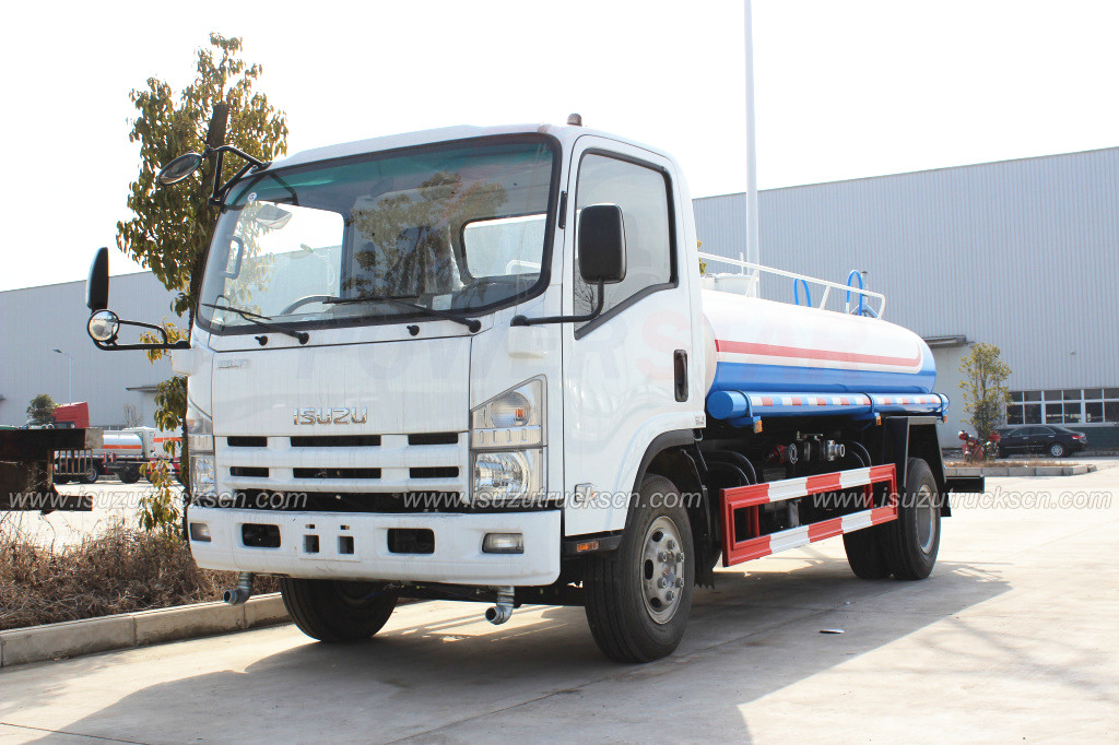6,000L ISUZU water bowser water tank truck for clean dust water carrier