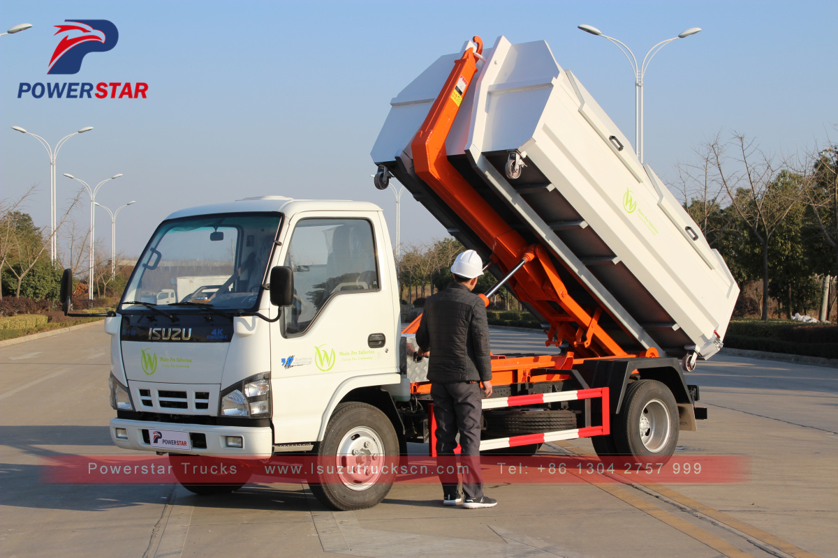 3tons 5tons Hooklift Refuse Collection Garbage Truck  Isuzu