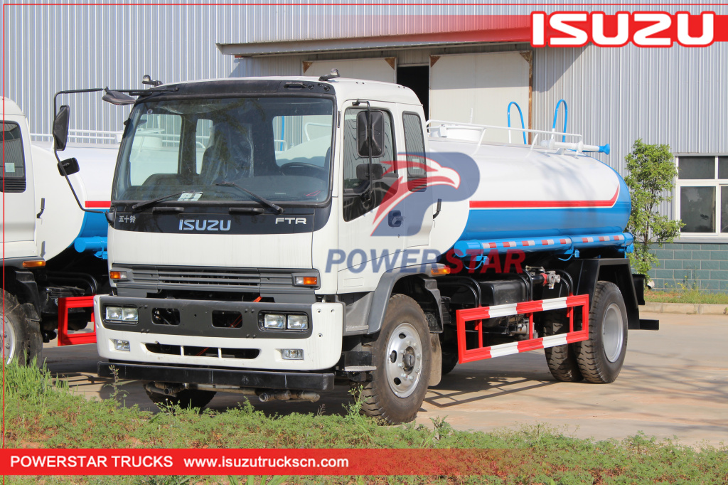 Afghanistan customer made 10,000L water spray tank trucks Isuzu