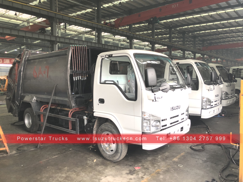 Philippines 10 units 5cbm Garbage compactor truck isuzu