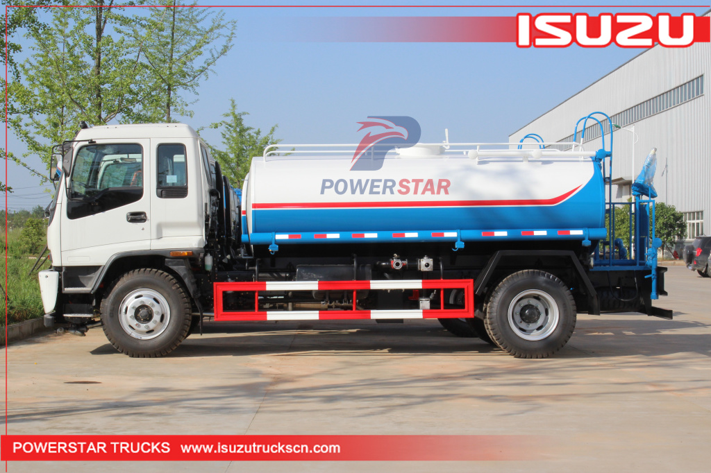 Philippines 12,000L water carrying truck Isuzu truck mounted water tanker