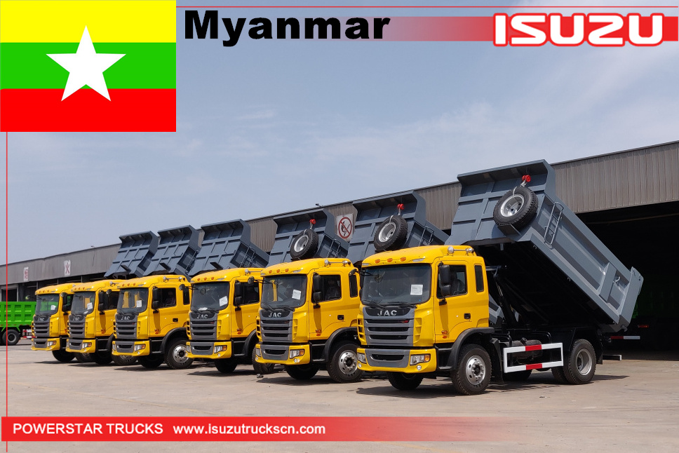 Myanmar - 6units JAC dump trucks