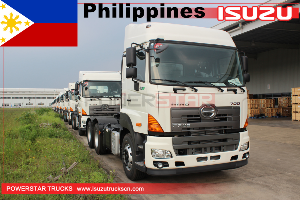 Philippines - 22Units of 10-Wheeler GAC Hino700 Prime Mover Tractor Truck