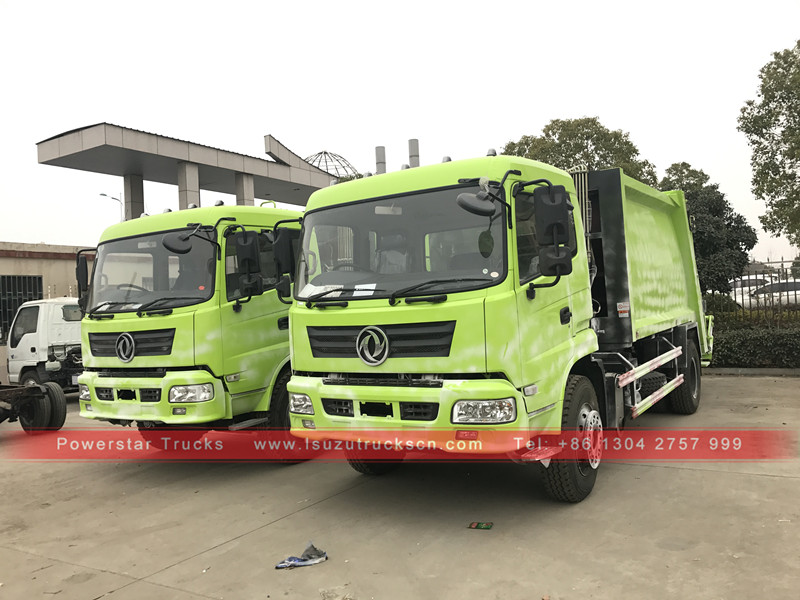 Powerstar brand Right hand drive 10tons compress garbage truck for Africa