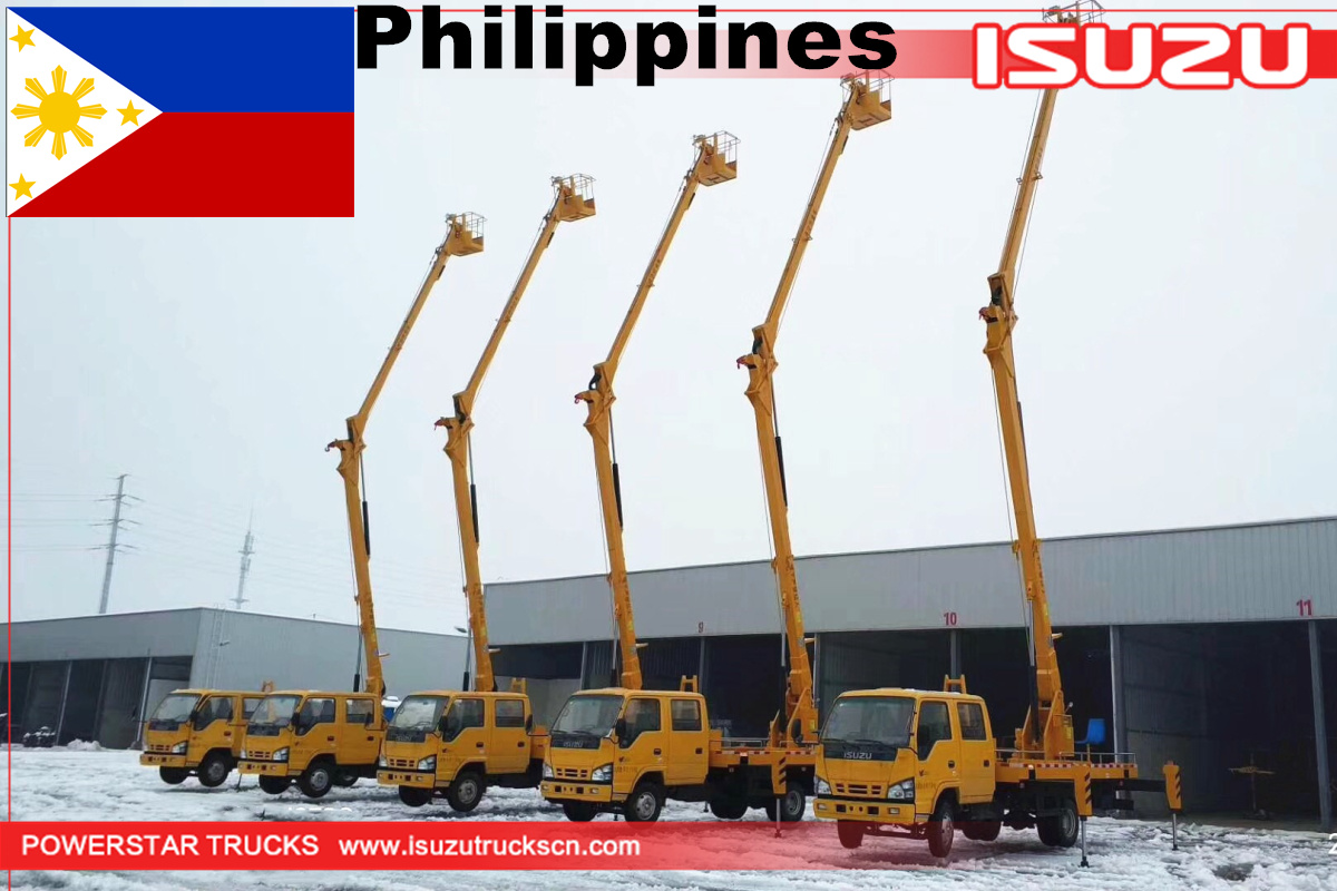 Philippines - 5 Units 16M Isuzu Aerial work platform truck