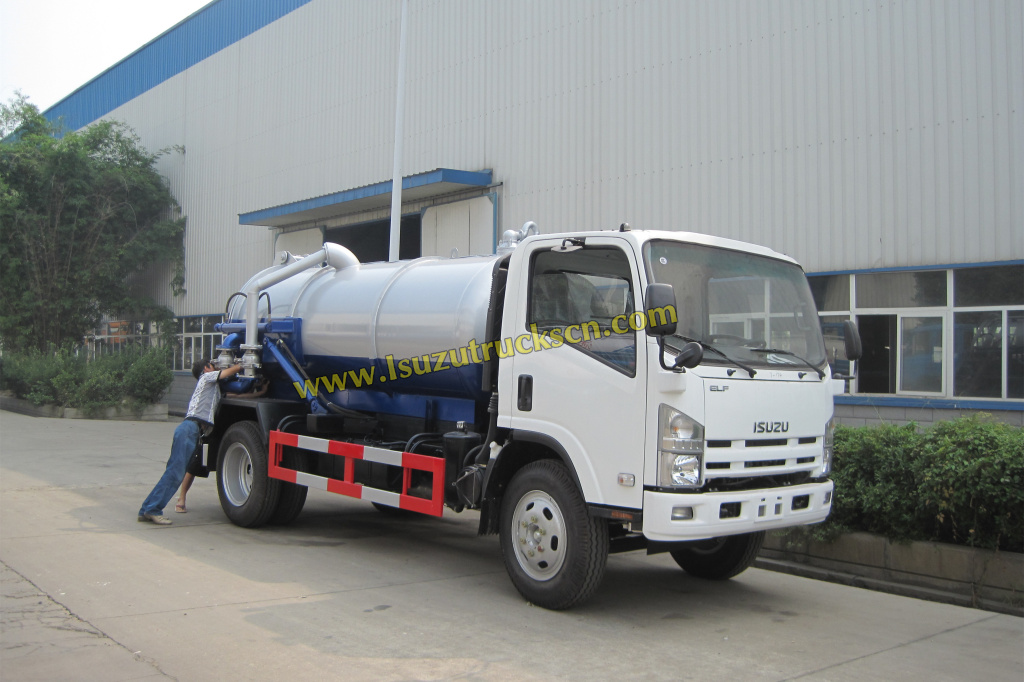 8000Liter Philippines ELF 700P Isuzu Septic suction Tanker Trucks