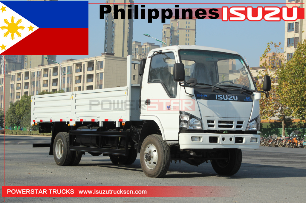 Philippines - 3 units ISUZU NKR 600P 4x4 off road dropside flatbed cargo van trucks