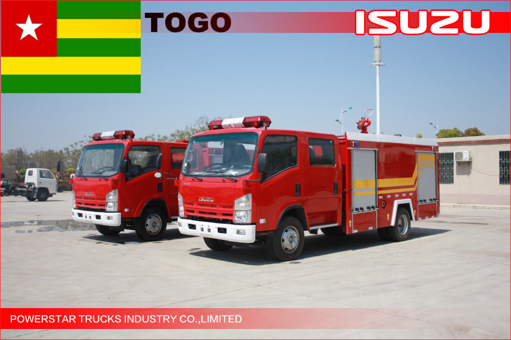 NPR ELF Water Fire truck for Togo