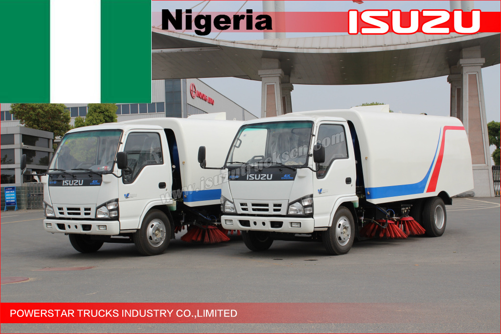 Road sweeper truck For Nigeria Lagos